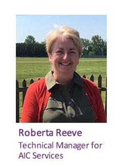 Roberta Reeve, Technical Manager for AIC Services