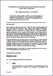 Image for Guidance on the Ammonium Nitrate Materials (High Nitrogen Content) Safety Regulations 2003