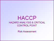 Image for HACCP Risk Assessment