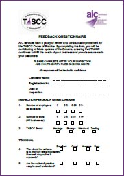 Image for TASCC Feedback Questionaire