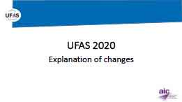 Image for UFAS 2020 Explanation of changes